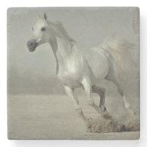 Wild Horse Running free Stone Coaster