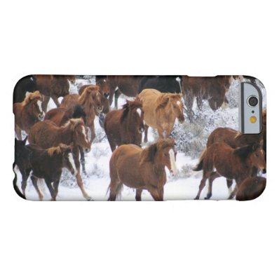 Wild Horse Running on Snow Barely There iPhone 6 Case