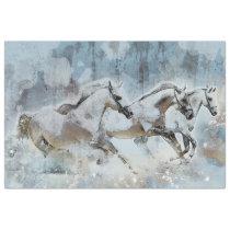 Wild Horse Stampede Western Decoupage Art Tissue Paper