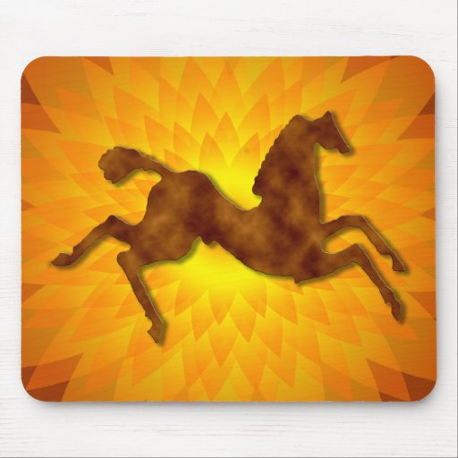 Wild Horse: Sunburst Copper Mouse Pad