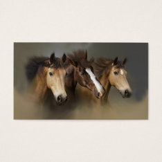 Wild Horse Trio Business Card at Zazzle