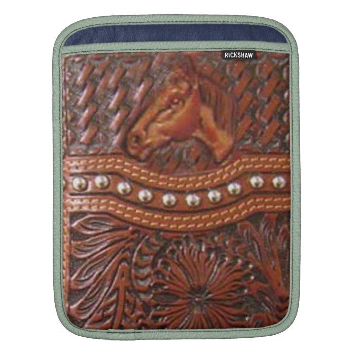 """""""Wild Horse"""" Western IPad Sleeve"""