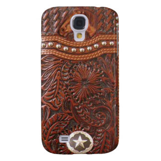 """Wild Horse"" Western Tooled Leather Look IPhone 3 Galaxy S4 Cover"