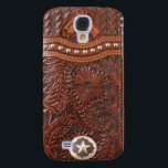 "&quot;Wild Horse&quot; Western Tooled Leather Look IPhone 3 Samsung Galaxy S4 Cover<br><div class=""desc"">This Wild Horse tooled leather-look image case will add western charm to any Cowboy or Cowgirl&#39;s IPhone. This great realistic image includes a tooled leather horse and star accent.</div>"