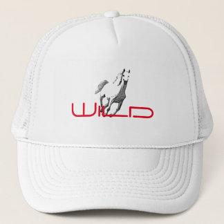 Wild Horse White Mesh Cap