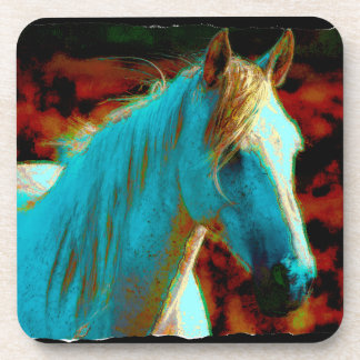 """Wild Horse """"Year of the Horse"""" Equine Artwork Beverage Coasters"""