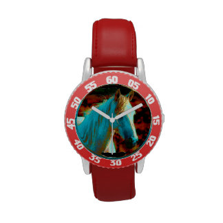 "Wild Horse ""Year of the Horse"" Equine Artwork Wrist Watch"