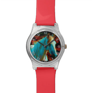 "Wild Horse ""Year of the Horse"" Equine Artwork Wristwatches"