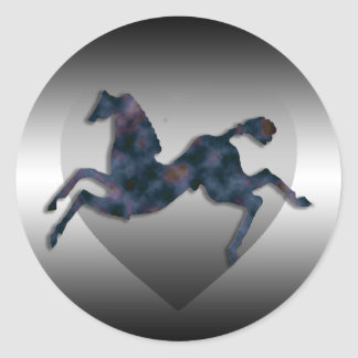 Wild Horses #13 Twilight Mist Classic Round Sticker