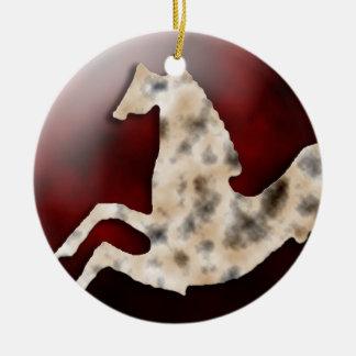 Wild Horses #15 Tarnished Silver Ceramic Ornament