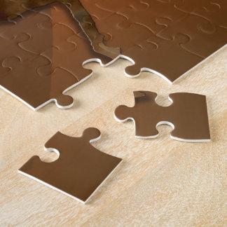 Wild Horses #1 Caramel Cream Jigsaw Puzzle