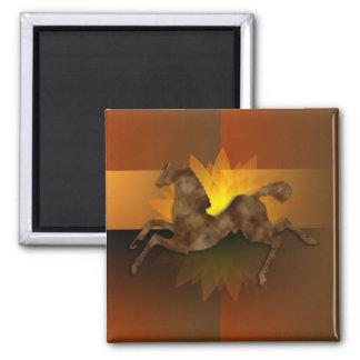 Wild Horses #1 Caramel Cream Magnet