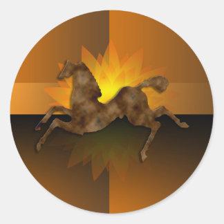 Wild Horses #1 Caramel Cream Round Sticker