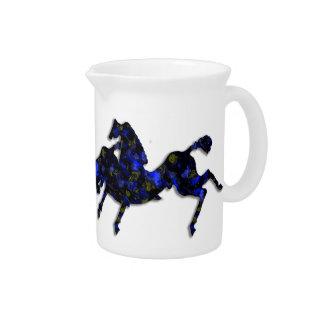 Wild Horses #24 Lapis Drink Pitcher