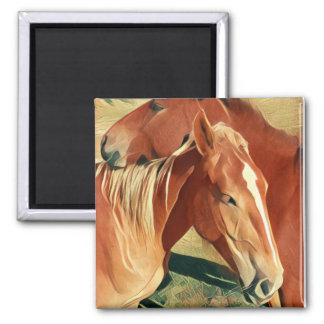 Wild Horses 2 Inch Square Magnet