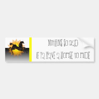 Wild Horses #2 Night Cloud Bumper Sticker