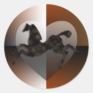 Wild Horses #2 Night Cloud Classic Round Sticker