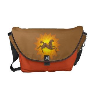 Wild Horses #5 Coffee Lite Messenger Bag