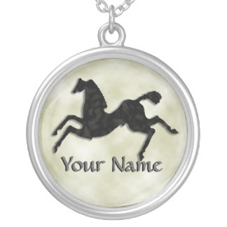 Wild Horses #6 Shadowy Silver Plated Necklace