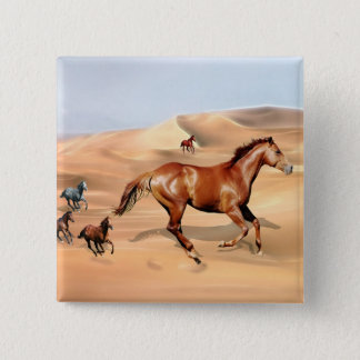 Wild horses and sand dunes button