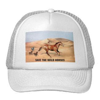 Wild horses and sand dunes trucker hat