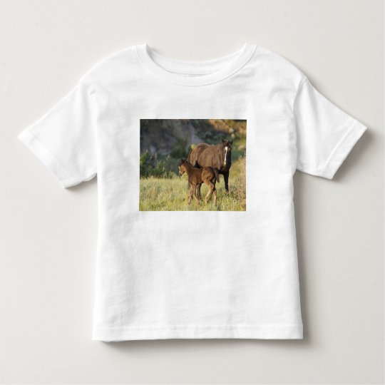 Wild Horses at Theodore Roosevelt National Park Toddler T-shirt