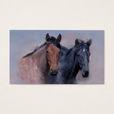 Wild Horses Business Card at Zazzle