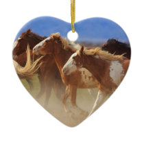 Wild Horses Ceramic Ornament