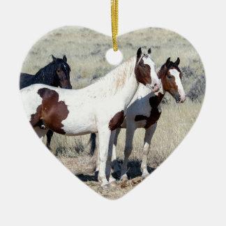 WILD HORSES CERAMIC ORNAMENT