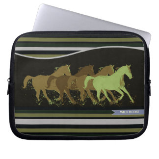 wild horses, country style computer sleeve