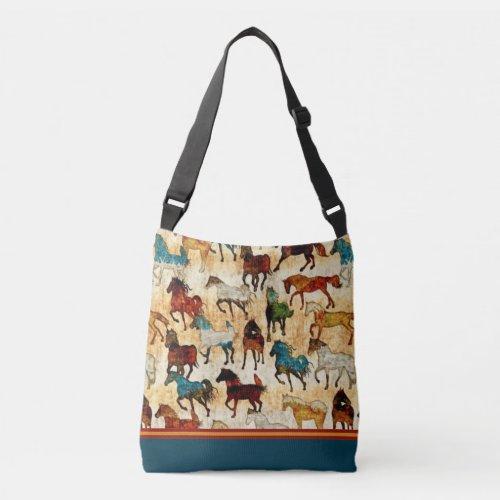 Wild horses Cross Body Tote Bag