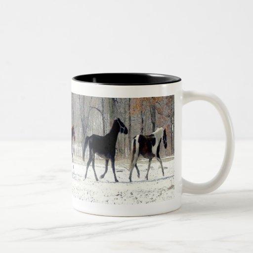 WILD HORSES CUP COFFEE MUGS