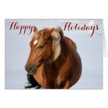 Wild Horses Holiday Greeting Card