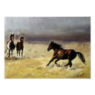 Wild horses/horses Digs them salvaxes/Wild Poster