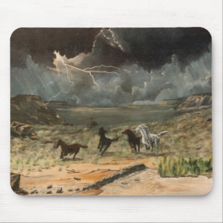 Wild Horses in a Thunderstorm Mouse Pad