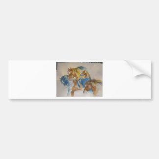 Wild Horses In Pastels Bumper Sticker
