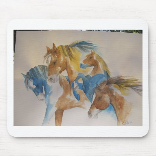 Wild Horses In Pastels Mouse Pad