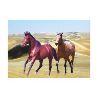 Wild horses in the desert canvas prints