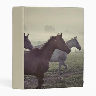 Wild horses mini binder