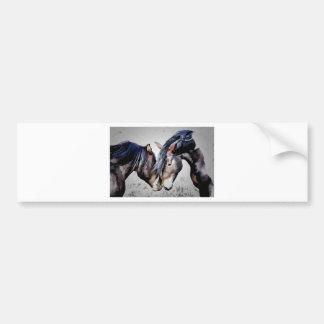 Wild horses, Mustangs, kiss Bumper Sticker
