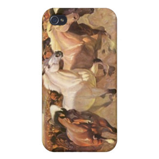 Wild Horses Mustangs Landscape Stampede Iphone 4 Cover For iPhone 4