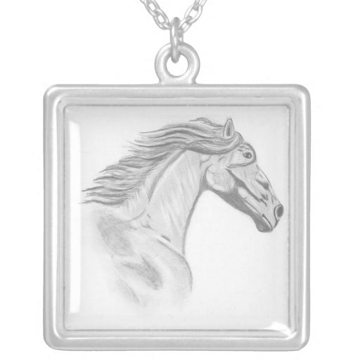 Wild Horses Personalized Necklace