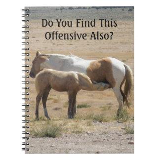Wild Horses Nursing Notebook