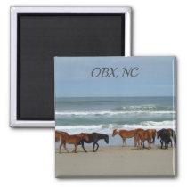 Wild Horses OBX NC Magnet