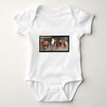 Wild Horses Of Assateague Island Baby Bodysuit
