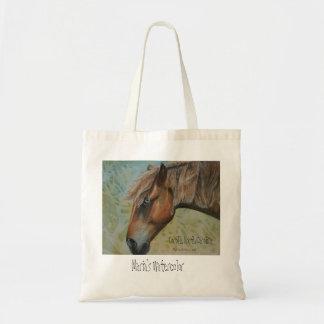 Wild Horses of Corolla North Carolina Tote Bag