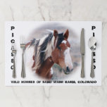 """Wild Horses of Sand Wash Basin Paper Placemat<br><div class=""""desc"""">Featuring the Wild Horses of Sand Wash Basin</div>"""