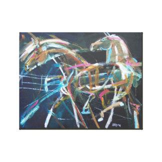 Wild Horses on Black - S.Payne Artist Canvas Print