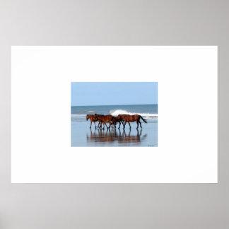 Wild Horses on the Beach Print