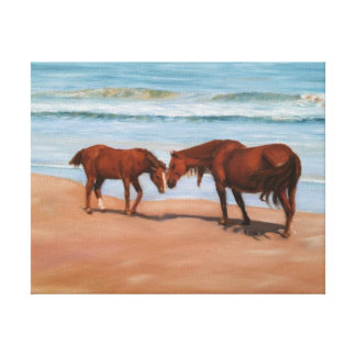 Wild Horses on wrapped canvas print